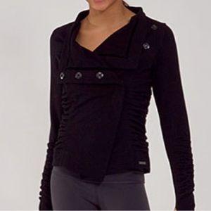 Lululemon Black Solace Ruched Jacket Size 4